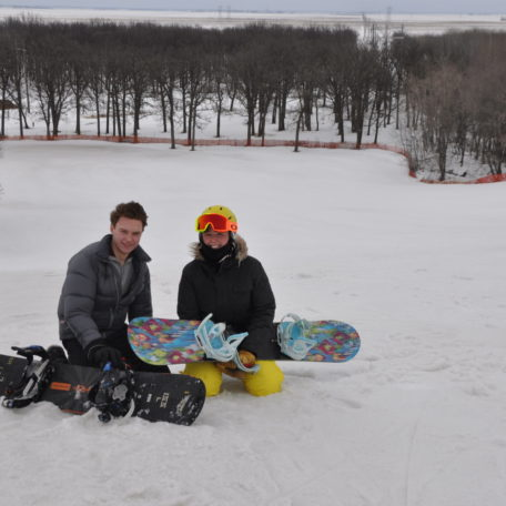 Snowboarding fun at Stony