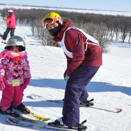 Mogul Mouse lessons are a great place to start for little skiers.