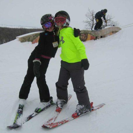 Ski buddies!